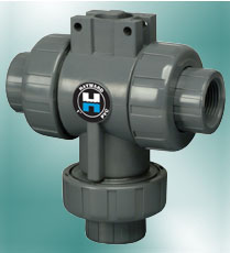 Three-Way, Ball Valve, Actuator Mounting, Hayward
